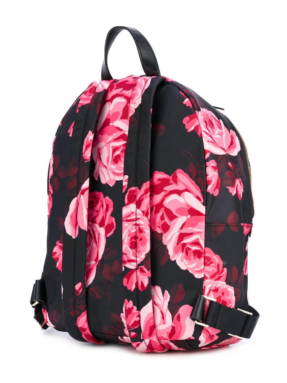 Lyst Kate Spade New York Floral Print Backpack In Black