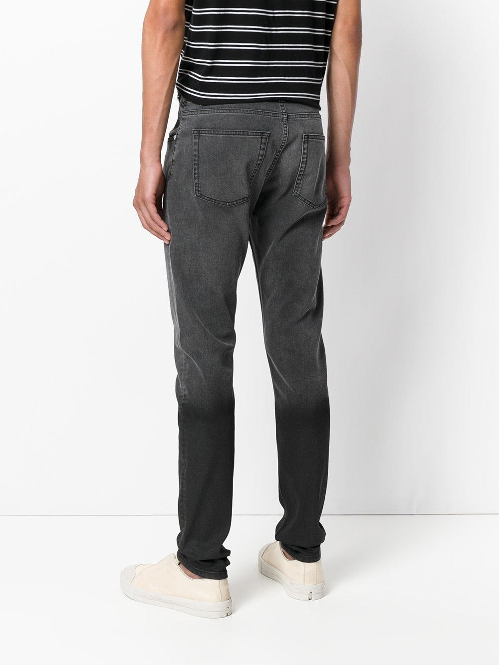 Alexander mcqueen Two-tone Slim-fit Jeans in Gray for Men | Lyst