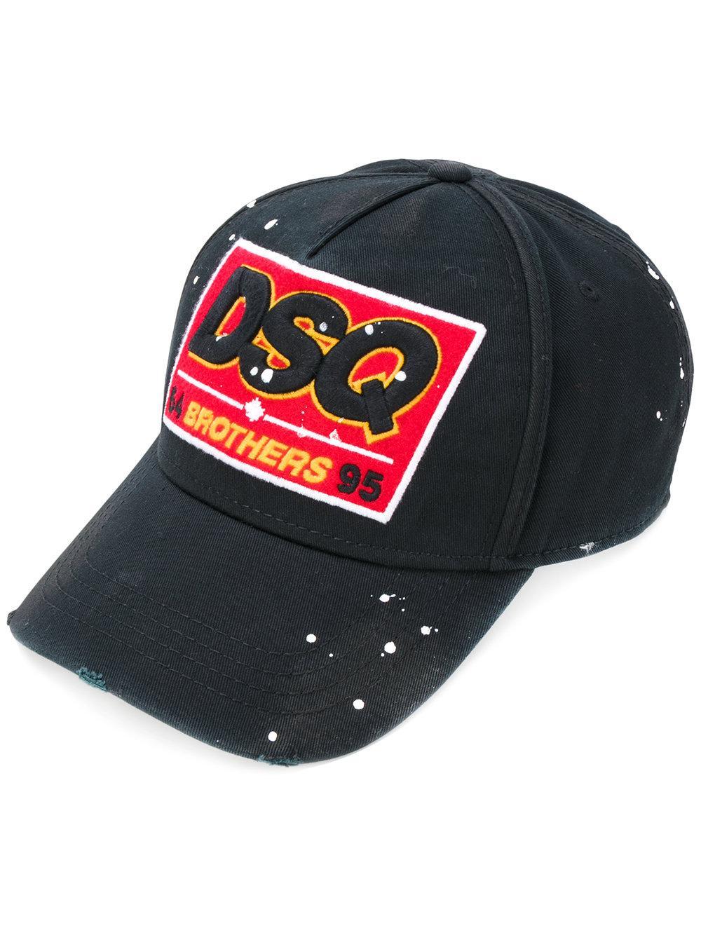 Dsquared 178 Dsq Patch Baseball Cap In Black For Men Lyst