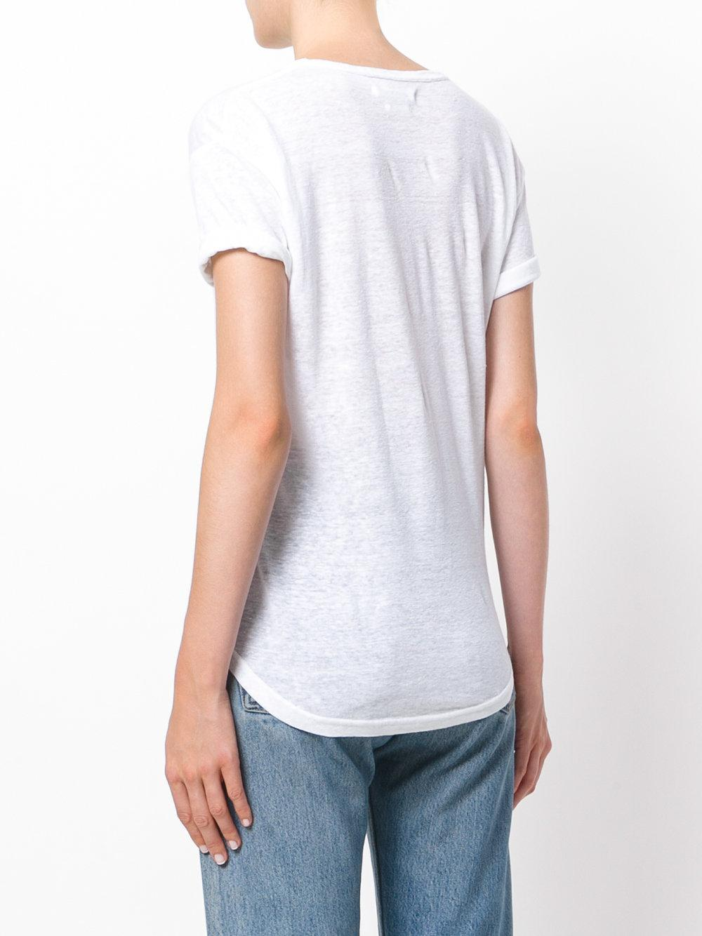 Lyst Toile Isabel Marant Metallic Logo T Shirt In White
