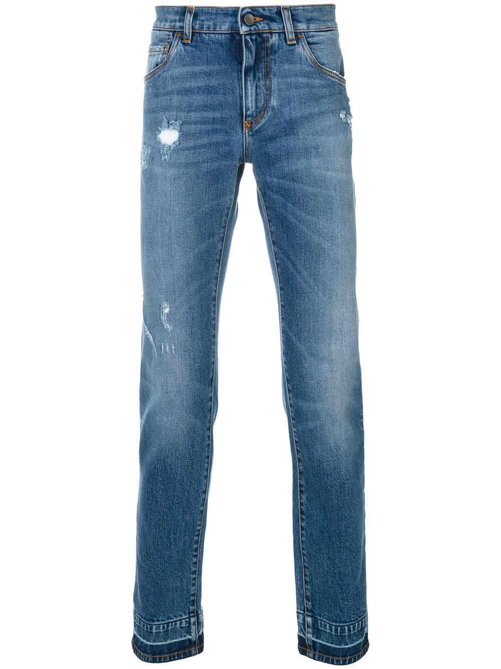 dolce gabbana bootcut jeans in blue for men lyst. Black Bedroom Furniture Sets. Home Design Ideas