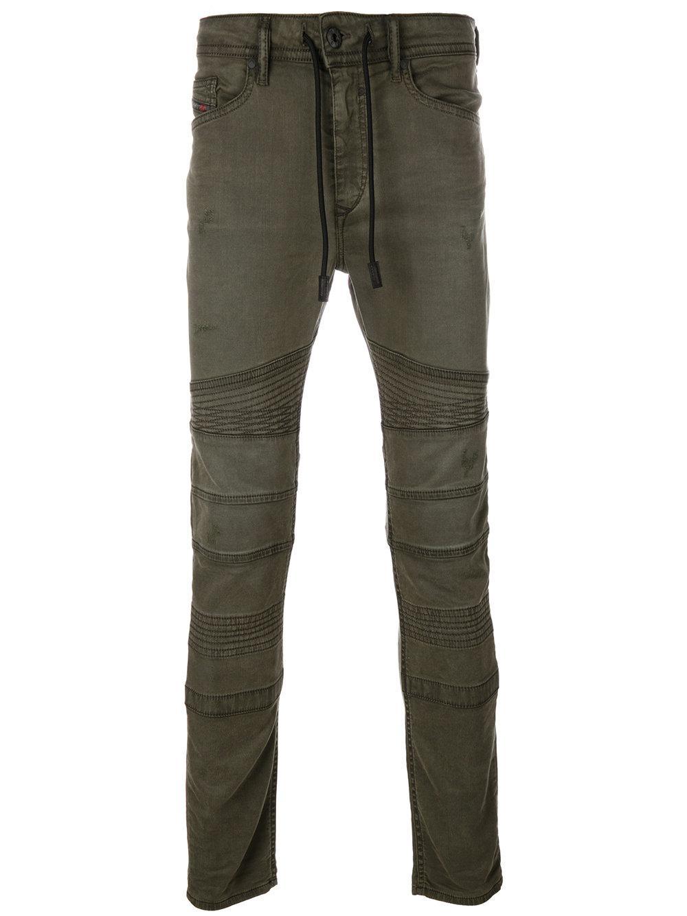 Diesel Stylized Seams Jeans In Green For Men Lyst