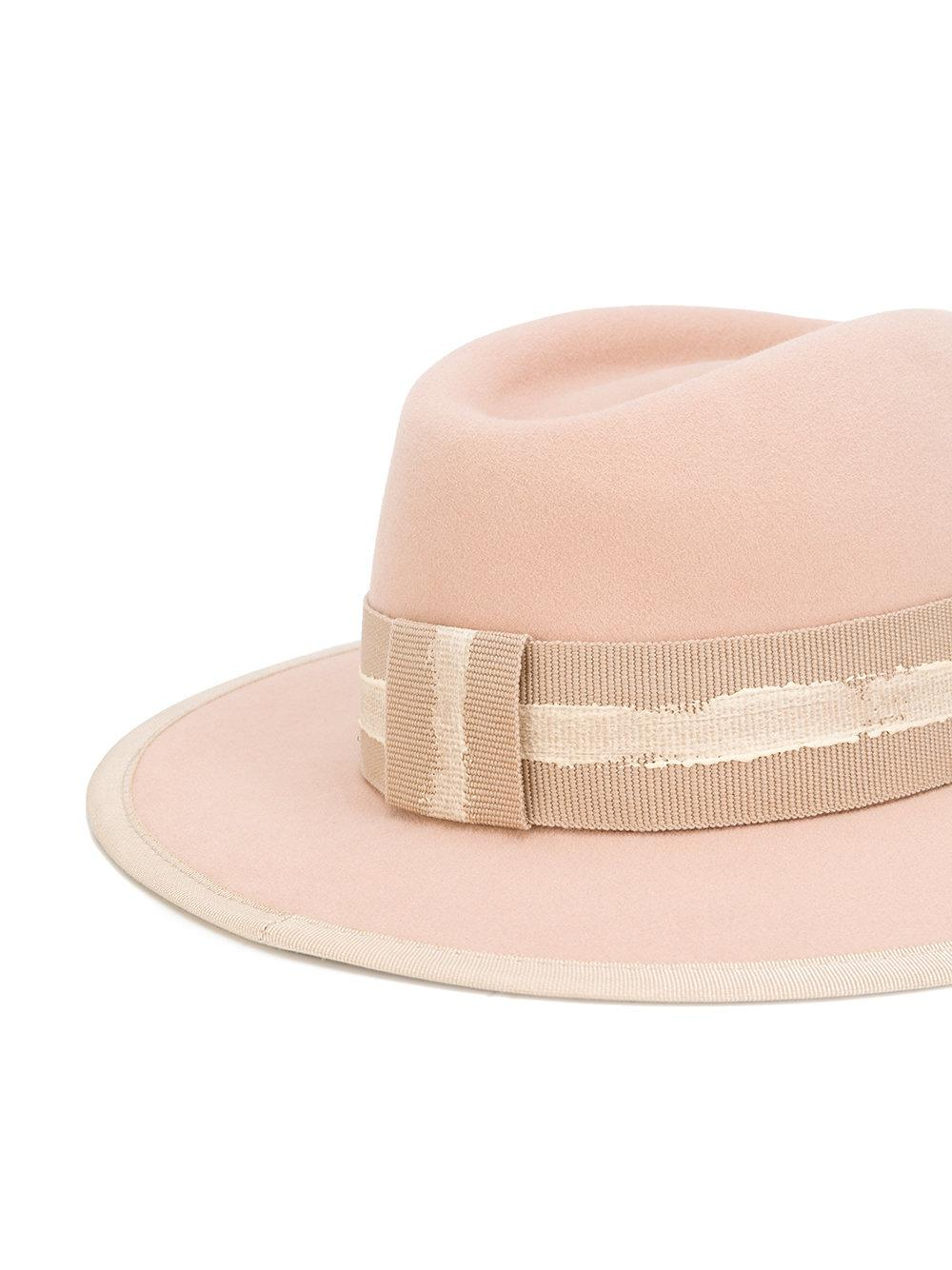 Lyst maison michel thadee hat in pink for Maison michel