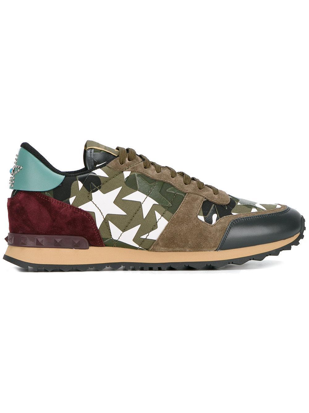 a04d7a07c768b Valentino - Garavani Rockrunner Sneakers - Men - Cotton/leather ...