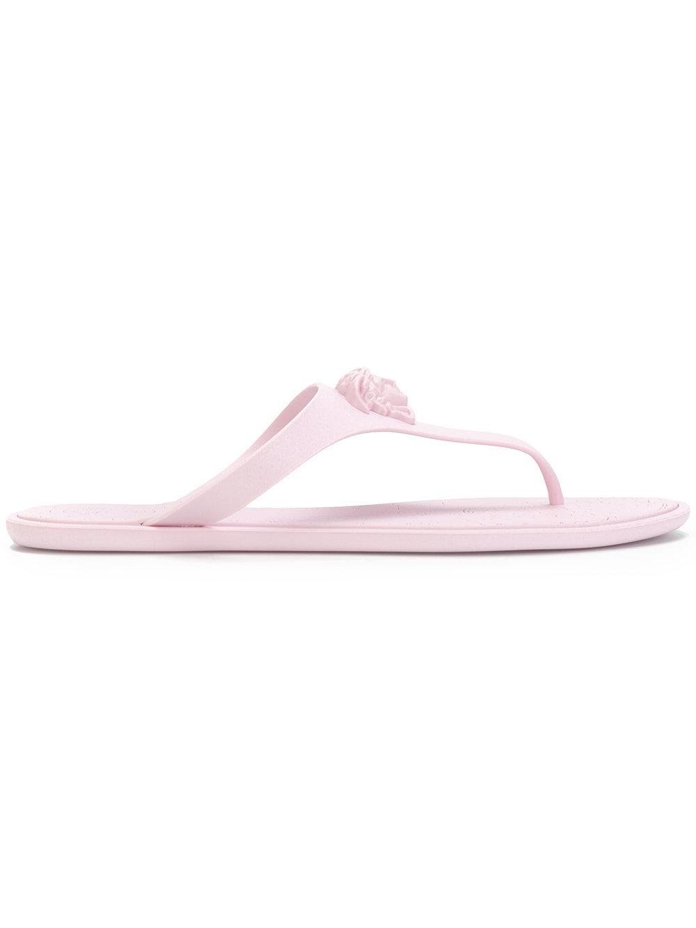 e37583dd929 Medusa thong Purple Pink crystal Versace sandals amp  4rpn4--pisa ...