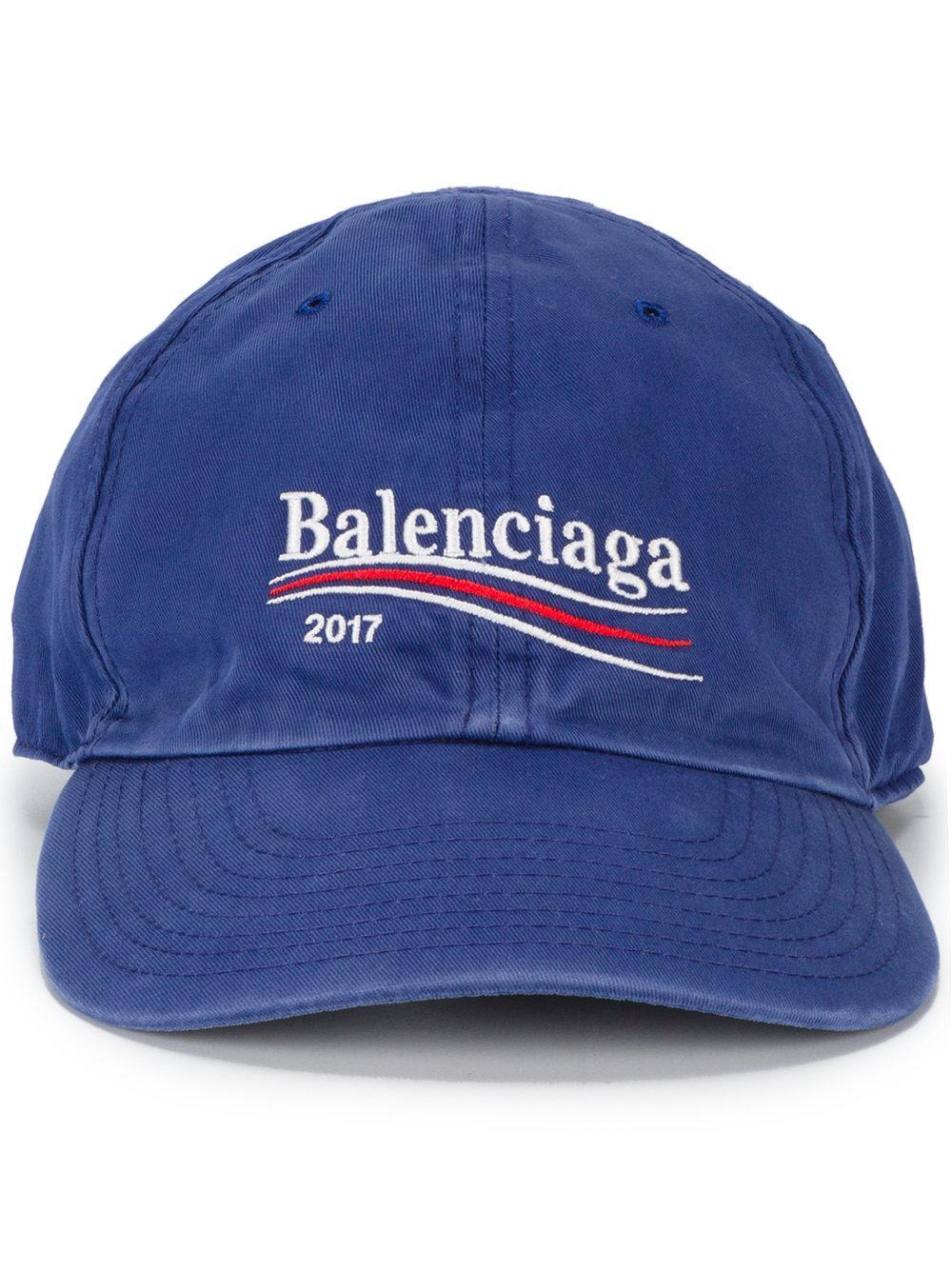 Balenciaga 2017 Logo Cap in Blue for Men