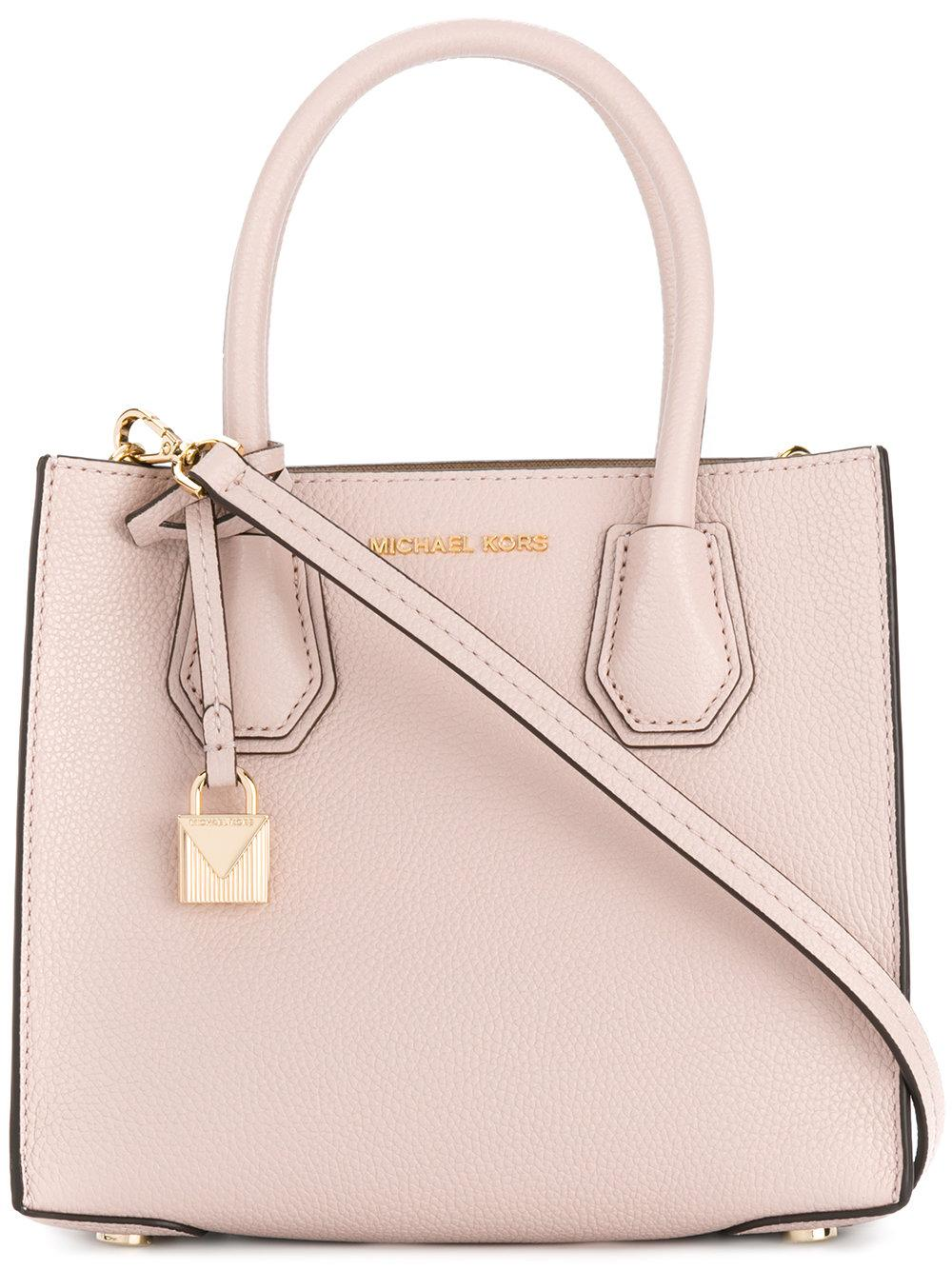 lyst michael michael kors mercer tote in pink. Black Bedroom Furniture Sets. Home Design Ideas