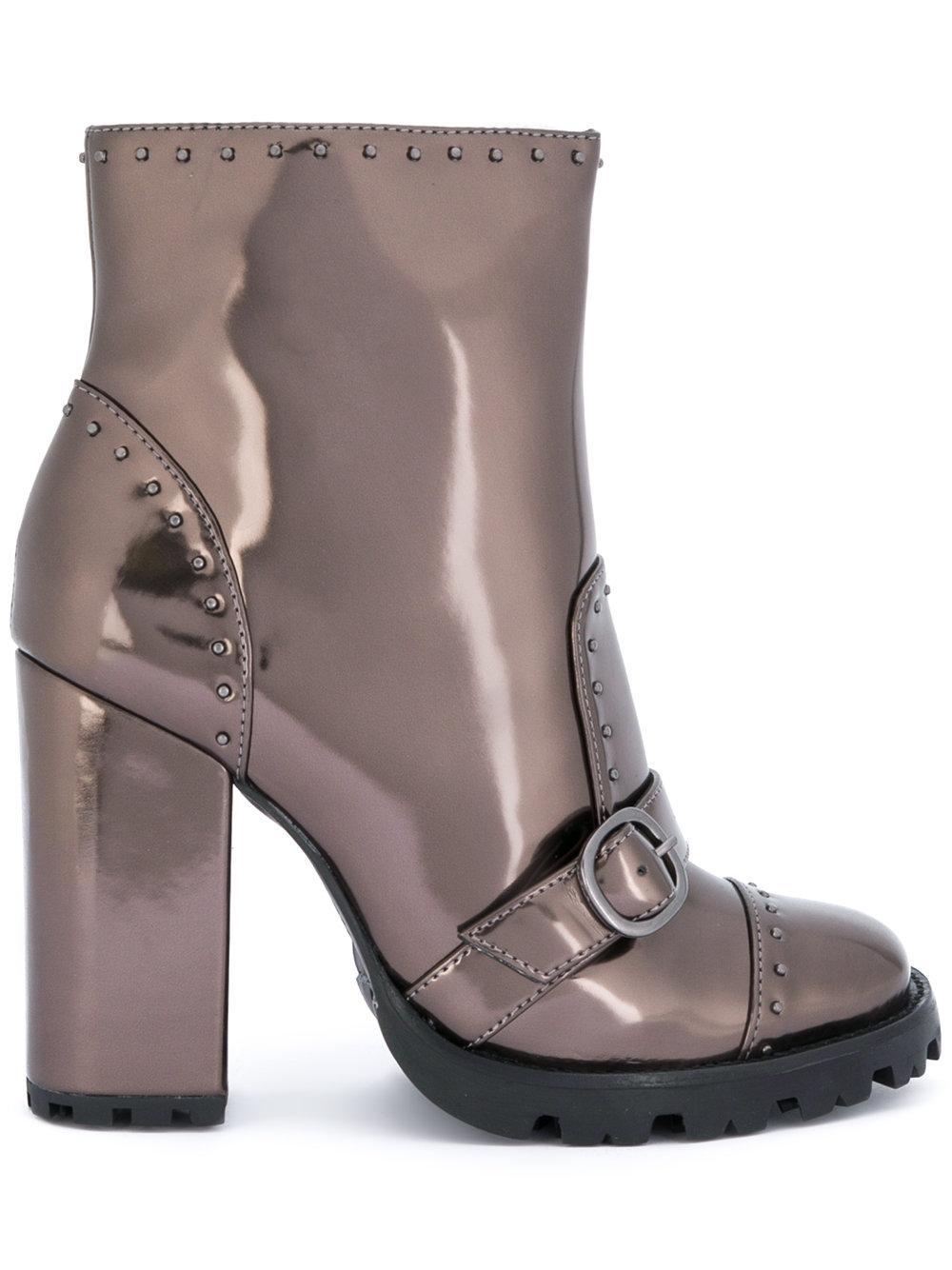 Schutz Studded shiny boots Outlet Websites Best Cheap Online Cheap Visit Discount Sast Buy Cheap Huge Surprise UYqX8o7i6