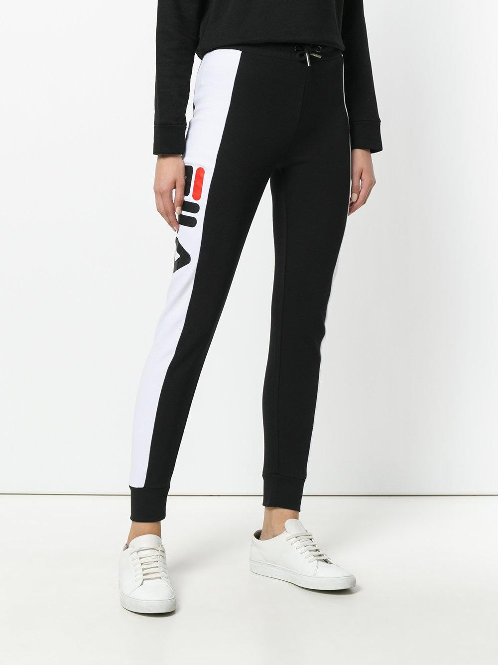 Fila Track Pants With Side Band in Black - Lyst a511d929b07
