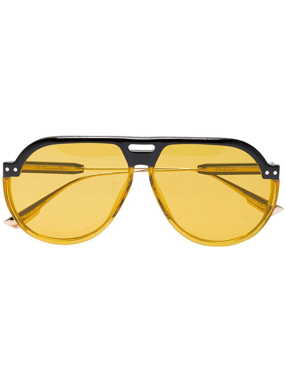 b3ffb09531 Dior Club 3 Aviator Sunglasses in Brown - Save 9% - Lyst