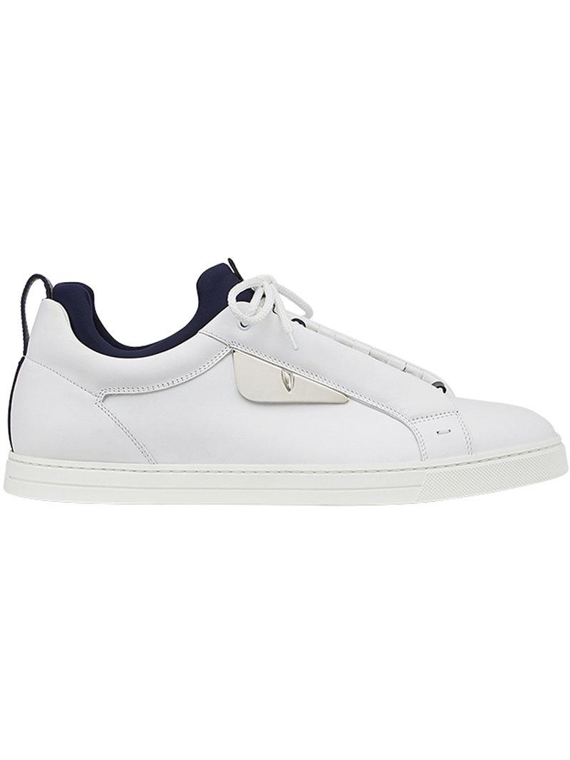74f05657db8a Fendi Bag Bugs Sneakers in White for Men - Lyst