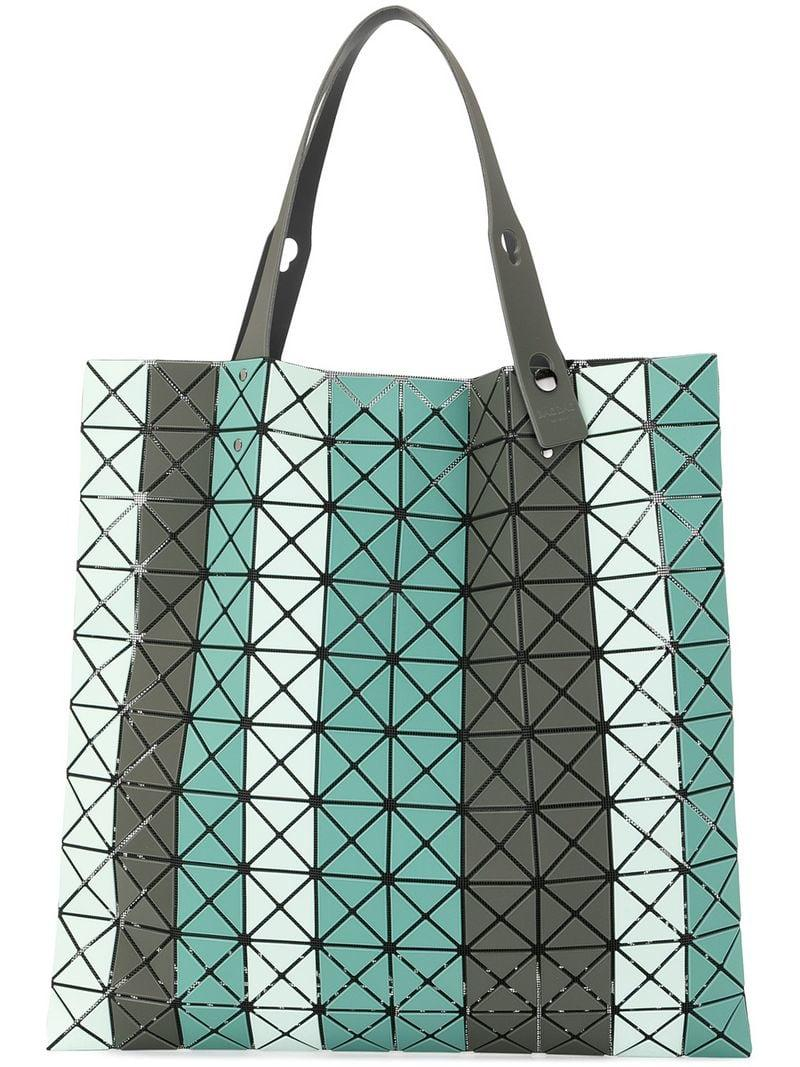 6ac18df1f55f Lyst - Bao Bao Issey Miyake Striped Prism Tote in Green