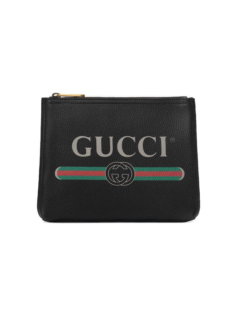eedce6e6a31 Lyst - Portfolio petit format en cuir imprimé Gucci pour homme en ...