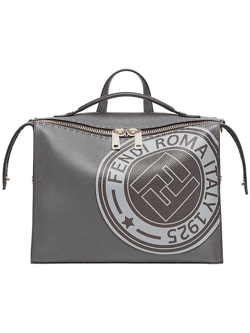 4057967ce1a6 Fendi Logo Print Lui Bag in Gray for Men - Lyst