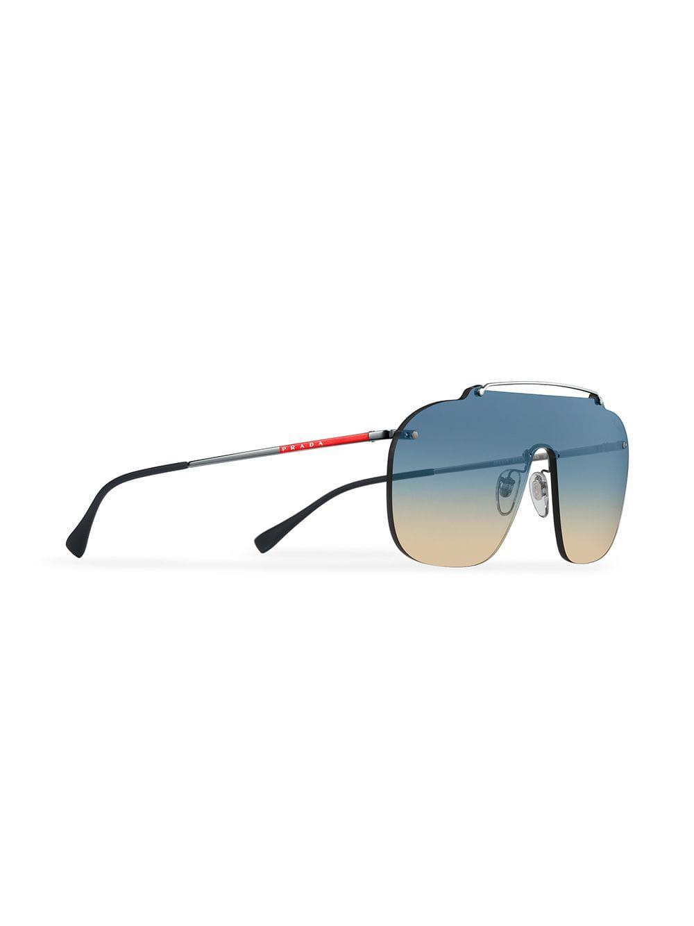a85c4372a3 Prada - Gray Linea Rossa Constellation Sunglasses for Men - Lyst. View  fullscreen