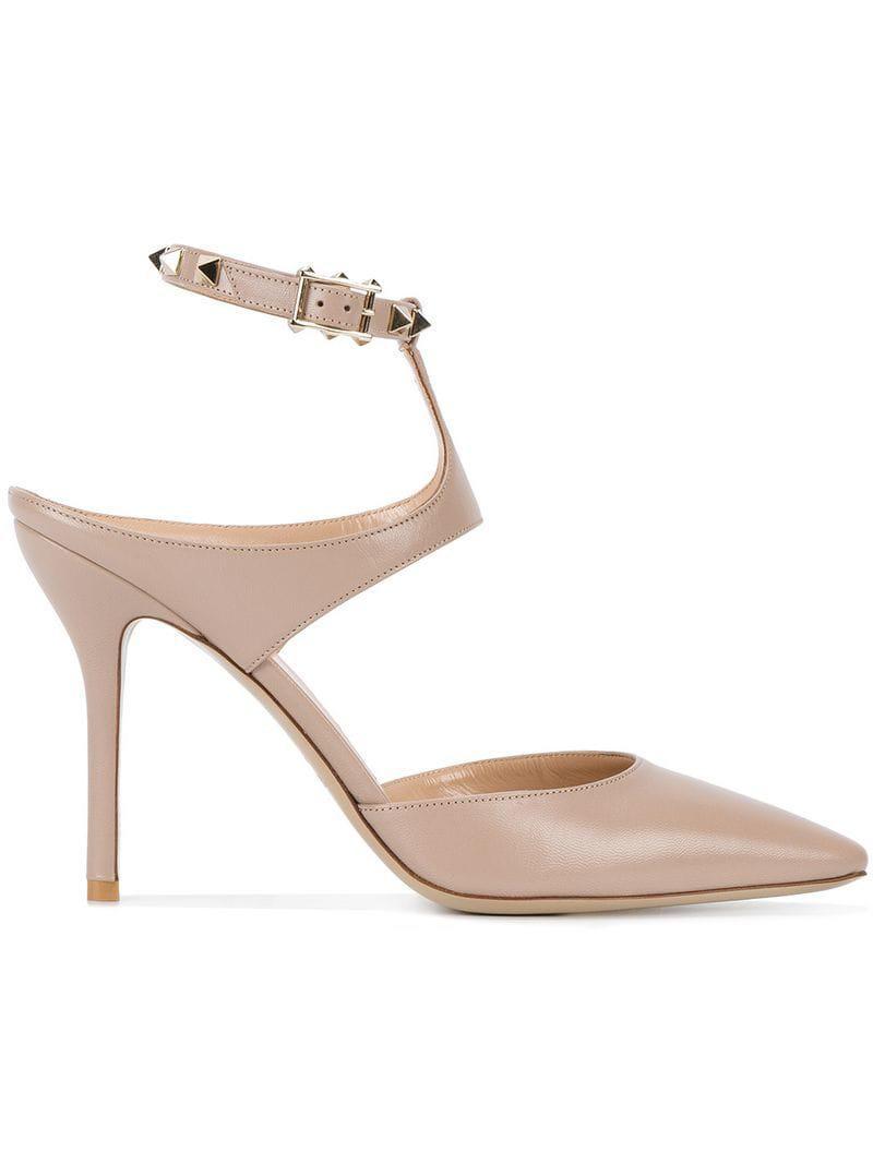 5c31e81e2e7 Valentino. Women s Pink Garavani Rockstud Ankle Strap Court Shoes