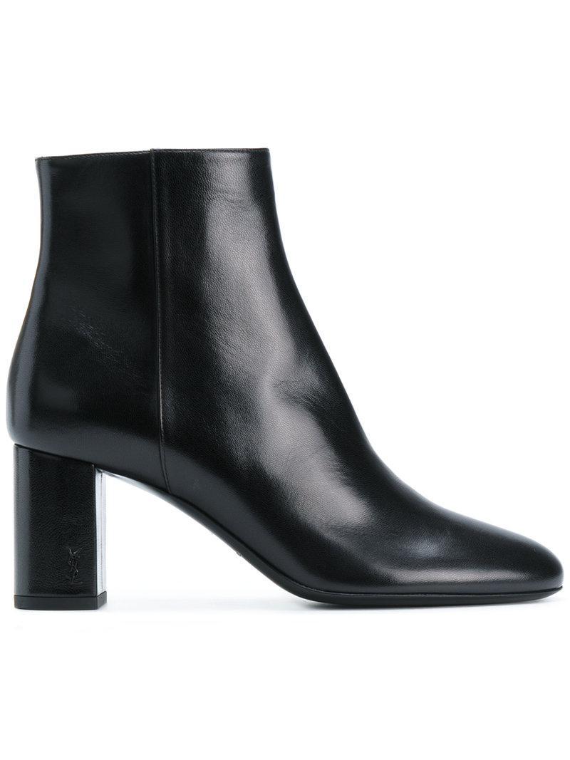 3bd4dec4ad3 Lyst - Saint Laurent Loulou 70 Ankle Boots in Black