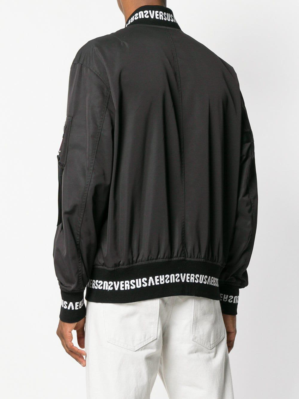 Logo For Versus Fullscreen Men View Lyst Bomber Black Print Jacket gOPqfw