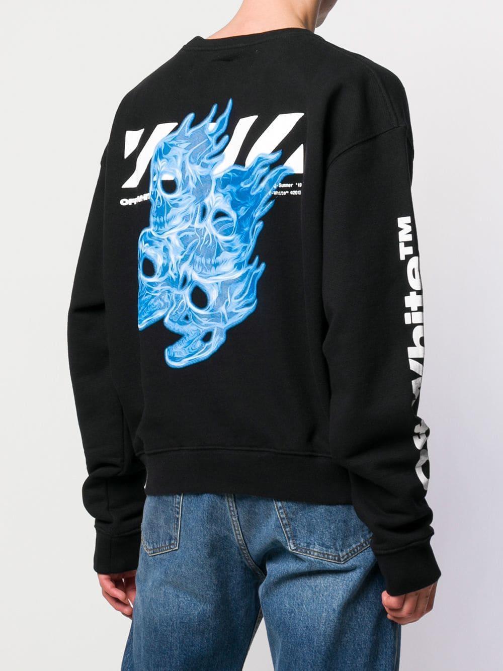 c8987707 Lyst - Off-White c/o Virgil Abloh Multi Print Sweatshirt in Black ...