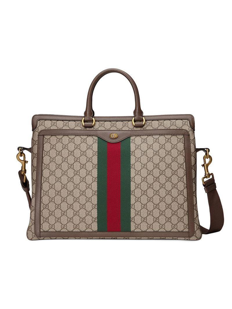 421e9347fee Gucci Ophidia GG Briefcase in Brown for Men - Lyst