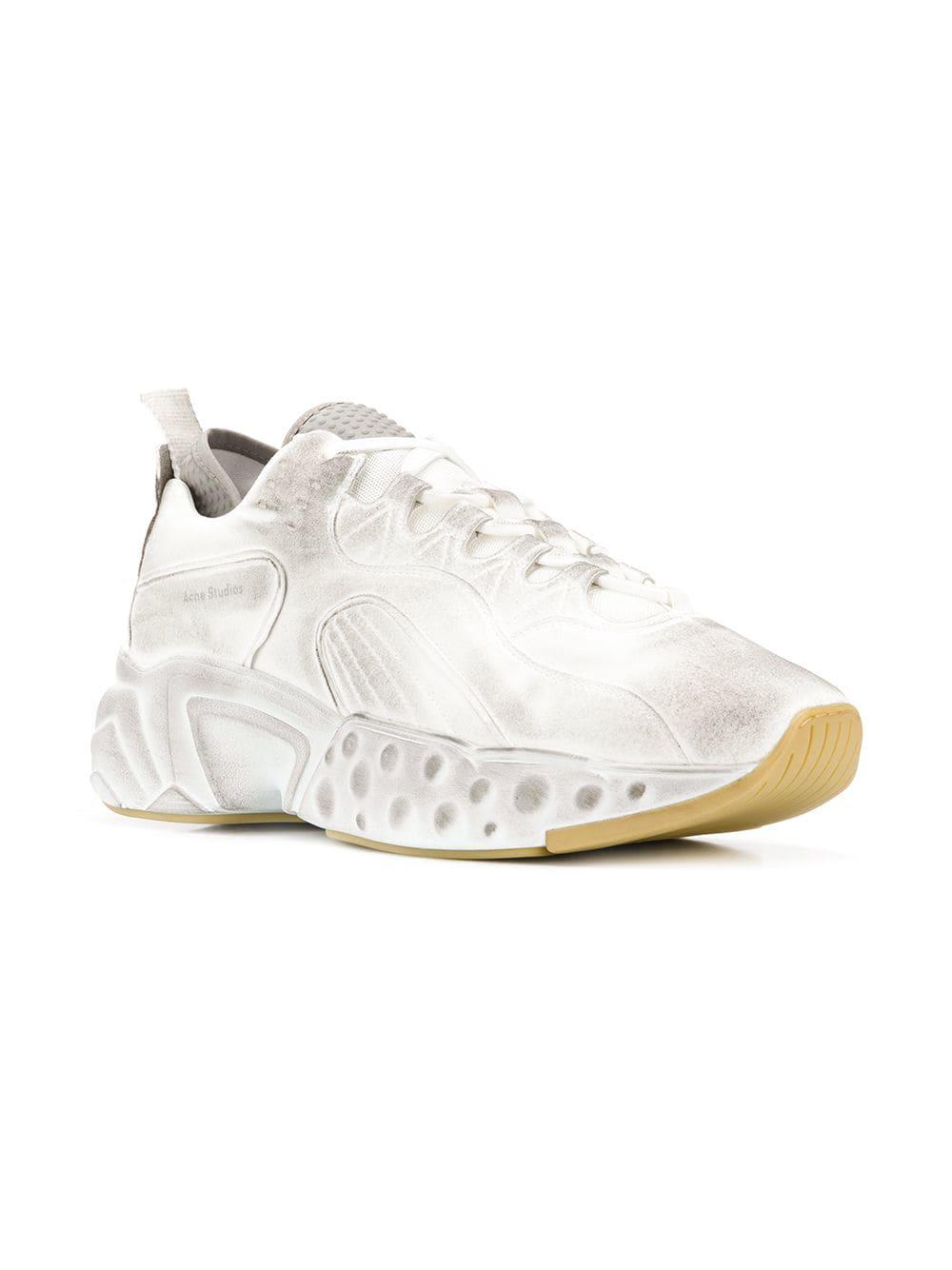 e4e7c4c19c724 Lyst - Acne Studios Rockaway Tumbled Sneakers in White for Men