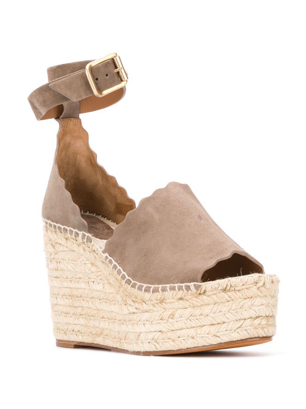1f8d5218b46 Lyst - Chloé Lauren Espadrille Sandals