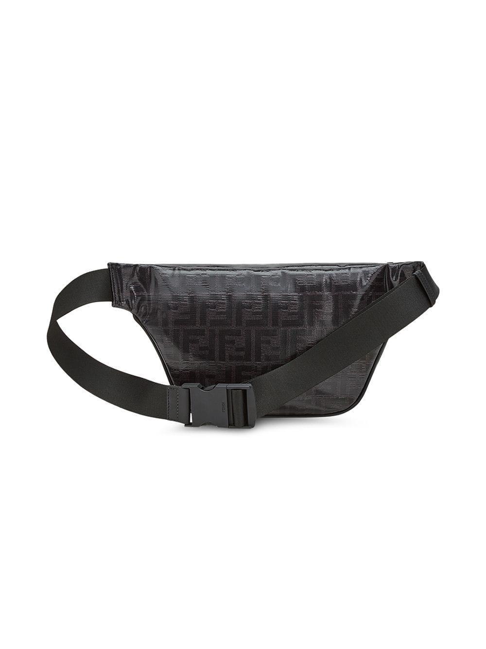 bb816e8602e Lyst - Fendi Black Mania Belt Bag in Black for Men - Save ...