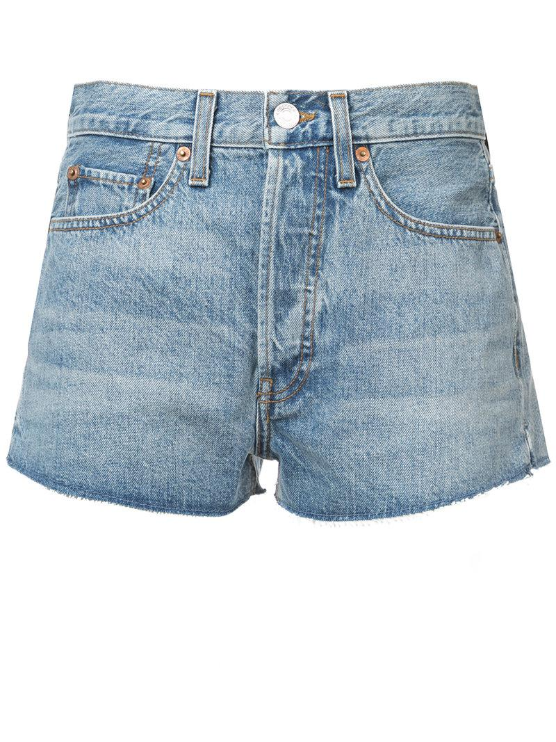 rinse effect shorts - Blue Re/Done Outlet Deals Free Shipping Affordable Clearance Finishline iLMTu