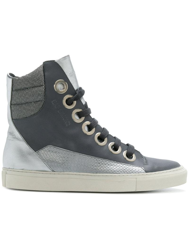 Raf Simons contrast patterned hi-top sneakers buy cheap supply clearance wide range of 7z5fs