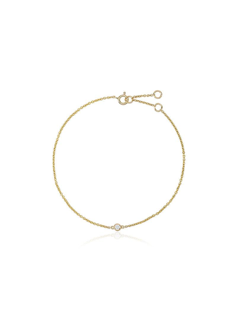 Rosa De La Cruz 18k yellow gold Dot diamond bracelet OqFtOltcW