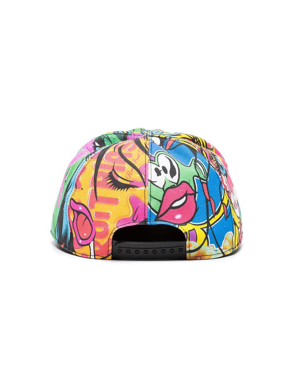 b33d1a20 Moschino - Multicolor Multicoloured Graphic Visor Cap - Lyst. View  fullscreen
