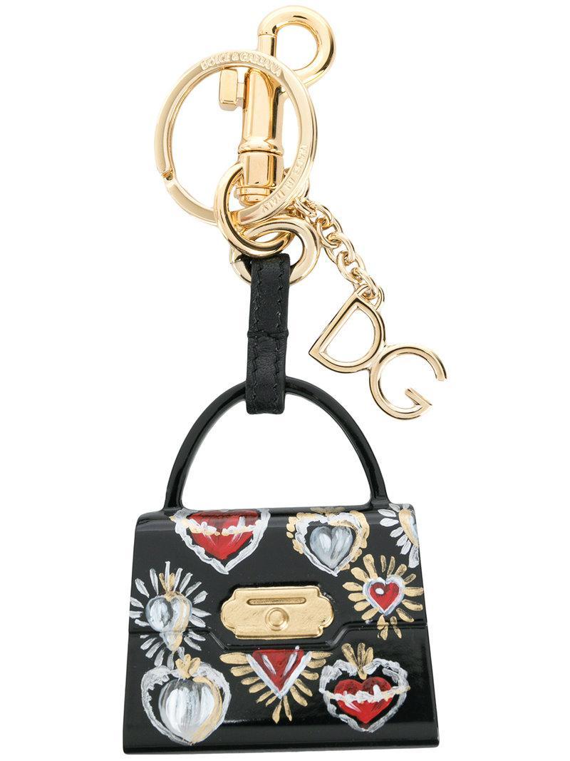 can motif keychain - White Dolce & Gabbana HiMZsq