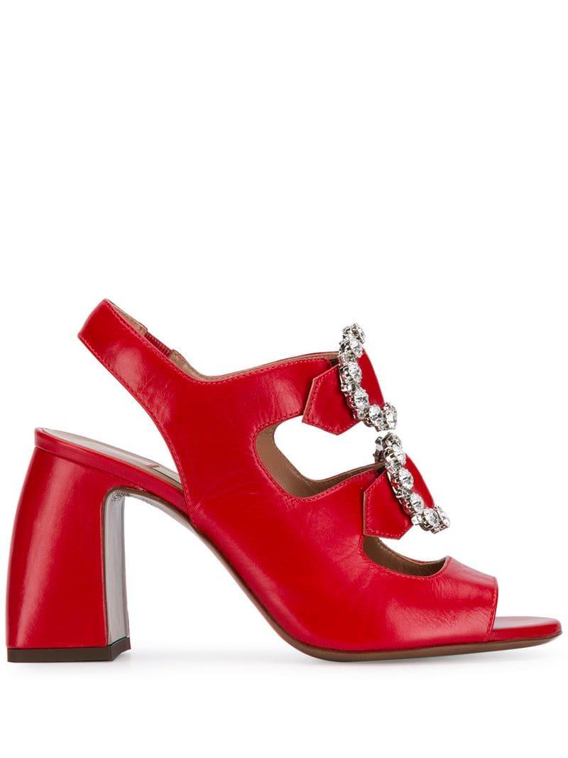 d8fa7ee84b4d Lyst - L Autre Chose Embellished Sandals in Red - Save 10%