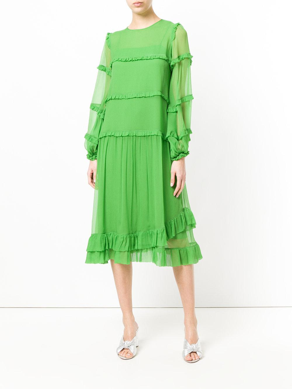 For Cheap Cheap Online longsleeved ruffle dress - Green N°21 Real 9oupDVp3g