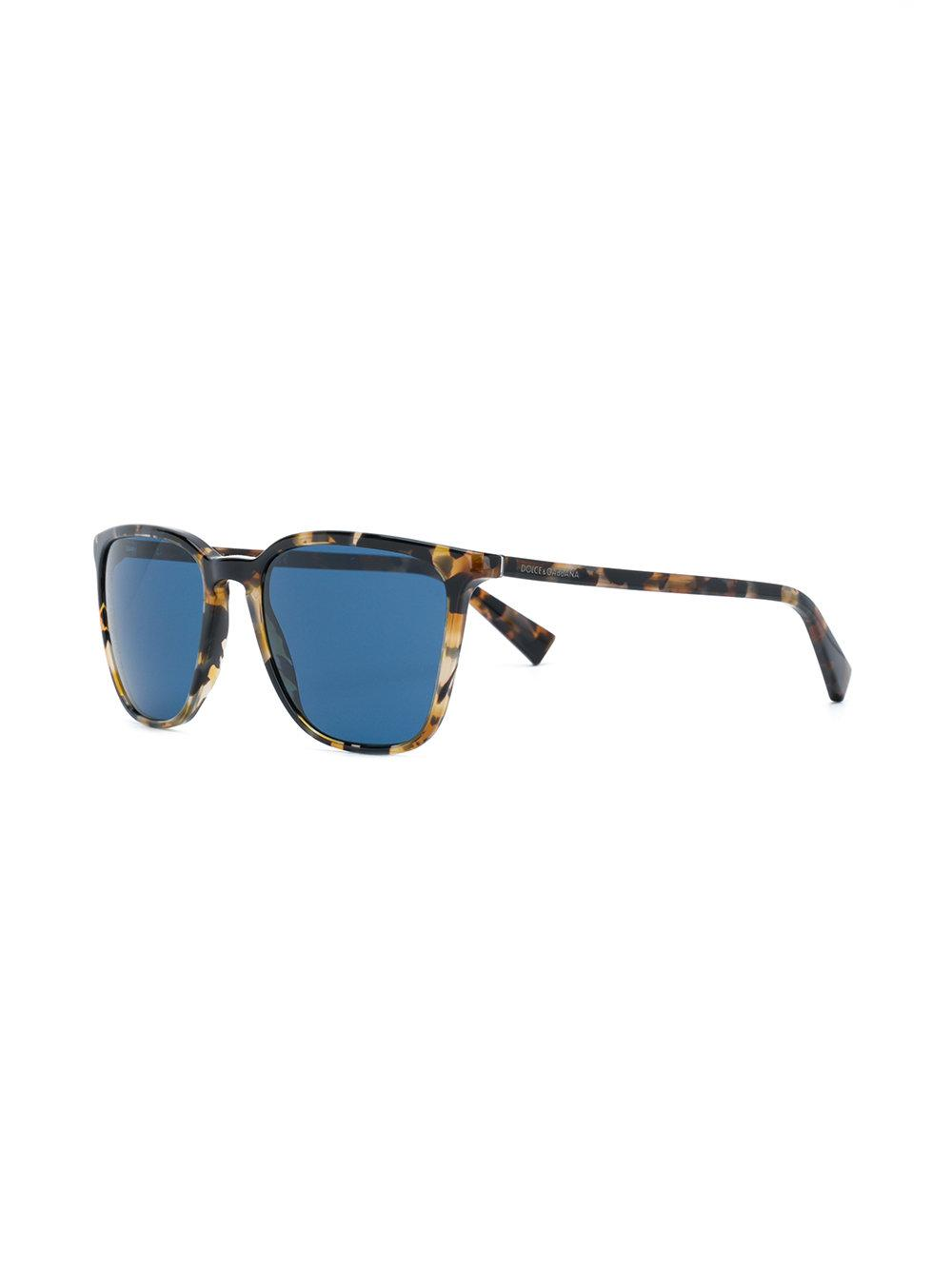 Dolce   Gabbana - Brown Lunettes de soleil à monture carrée for Men - Lyst.  Afficher en plein écran fafb2d9dc848