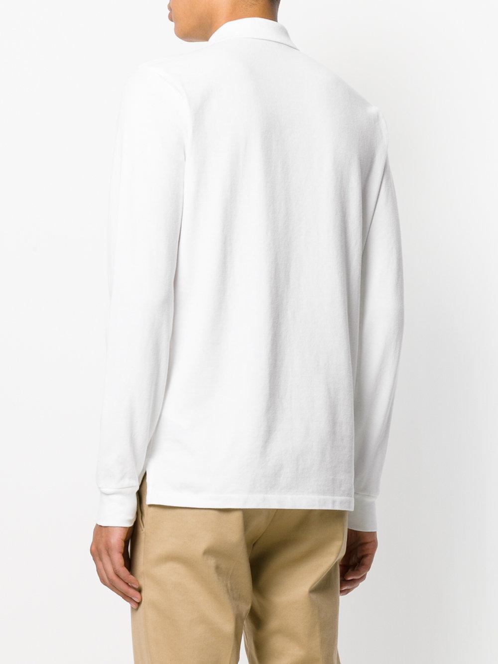 Lyst polo ralph lauren club collar polo shirt in white for Ralph lauren polo club shirts