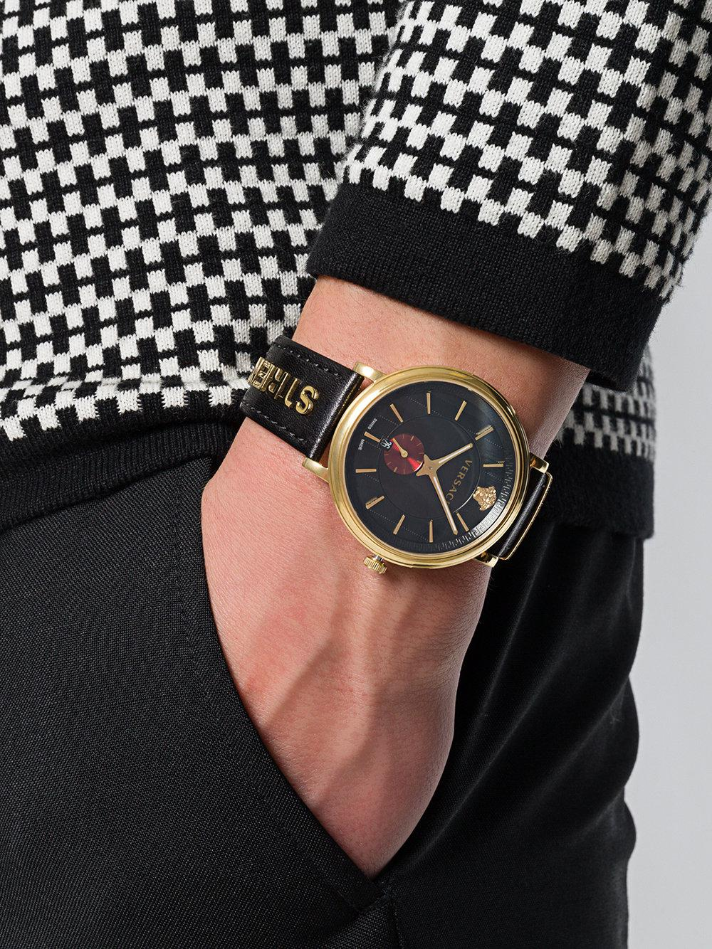97abe76e49 Lyst - Versace V-circle Manifesto Watch in Black for Men