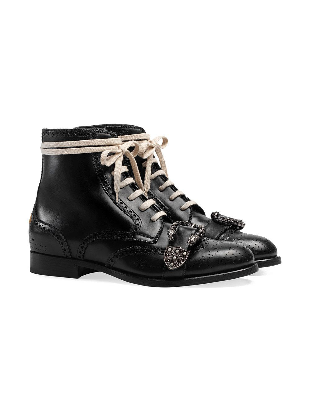 85907f30291 Lyst - Gucci Queercore Brogue Boot in Black for Men - Save  3.8709677419354875%