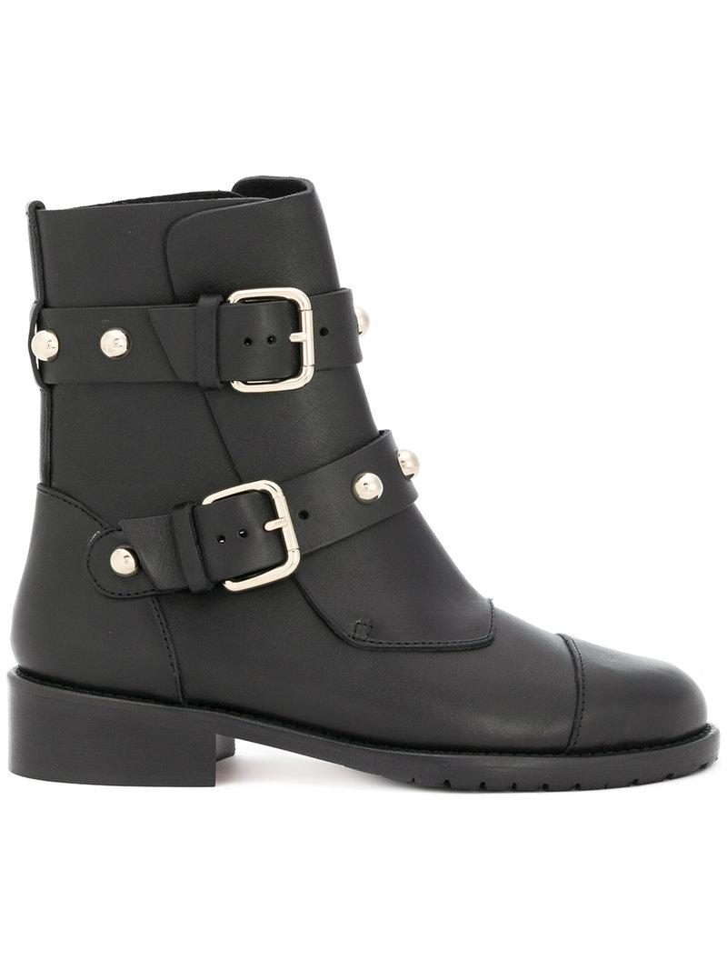 RED Valentino Studded strap boots H73NJ5KsX