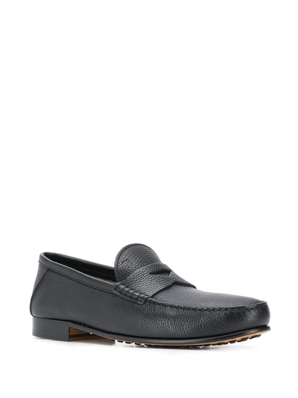 97885b227ef Lyst - Tod s Cracked Effect Penny Loafers in Black for Men