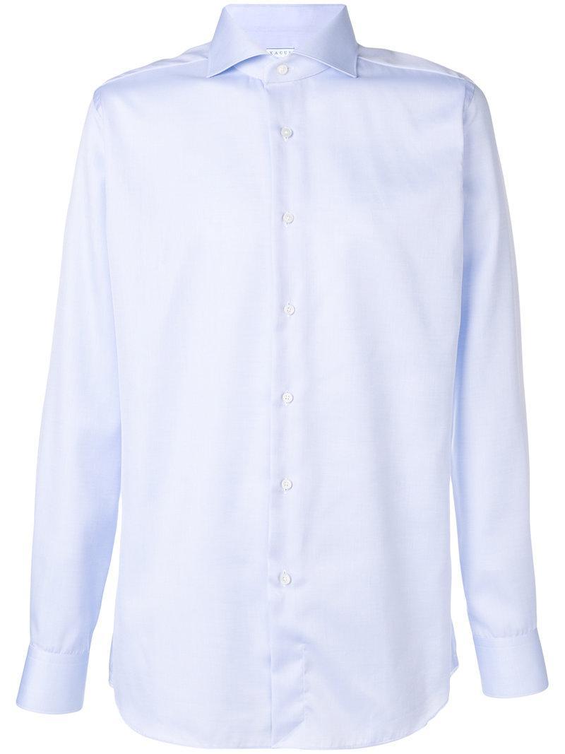 945bc6bc149b Lyst - Xacus Plain Button Down Shirt in Blue for Men