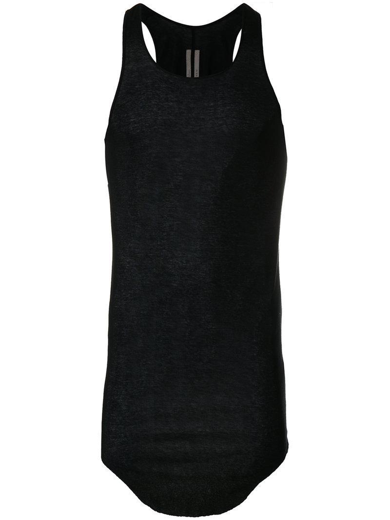614832f4741ee Rick Owens Sheer Tank Top in Black for Men - Lyst