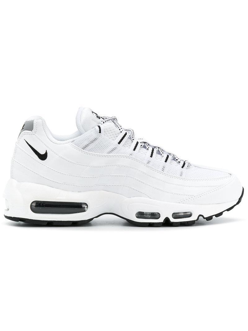 Nike. Men's White Air Max 95 Sneakers