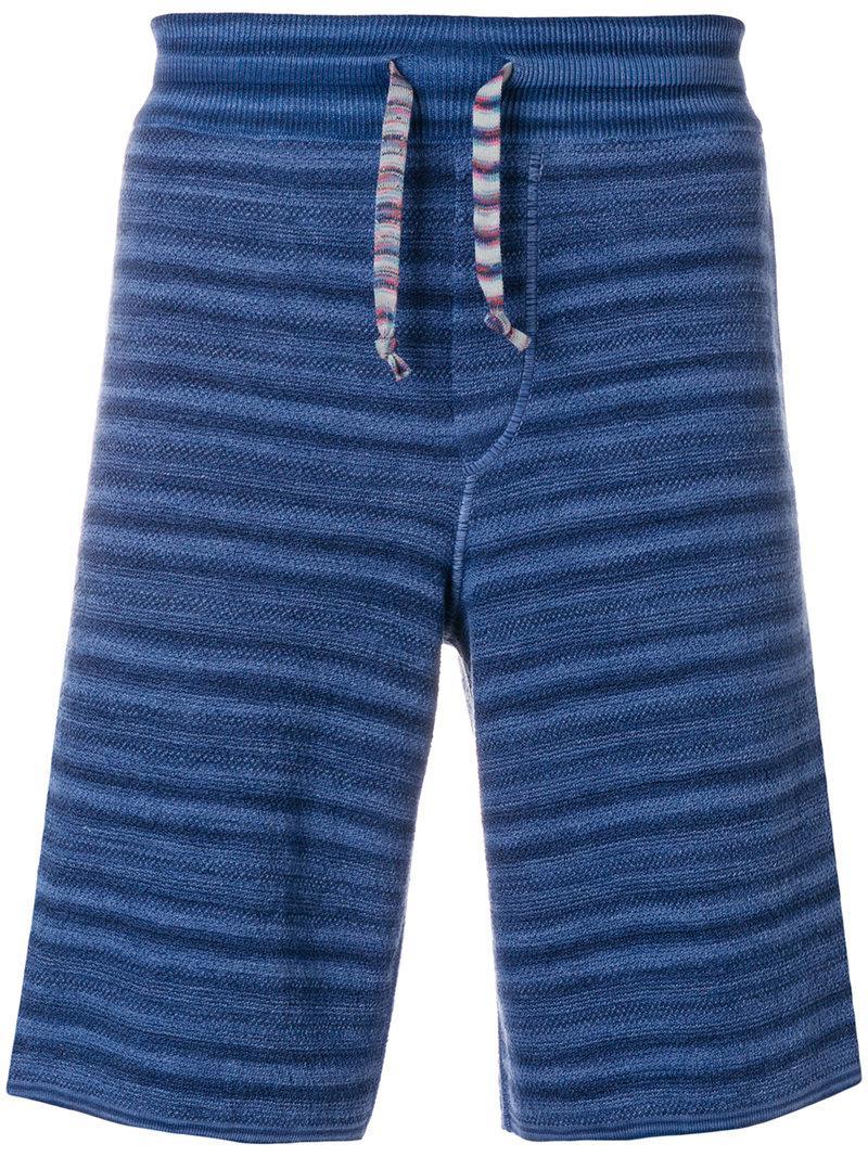 striped track shorts - Blue Missoni fp4sj2Nw