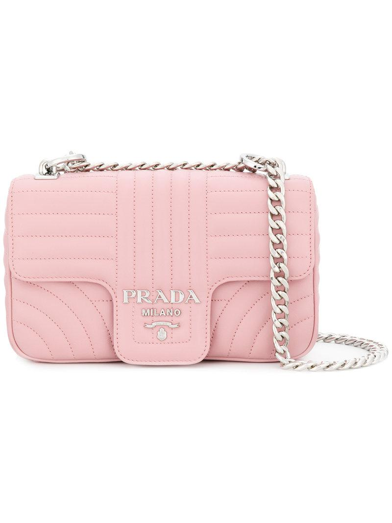 594f62120167 Lyst - Prada Matelassé Shoulder Bag in Pink