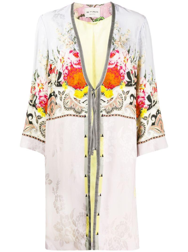 28ab25ec6b90e0 Etro. Women's Printed Robe Coat