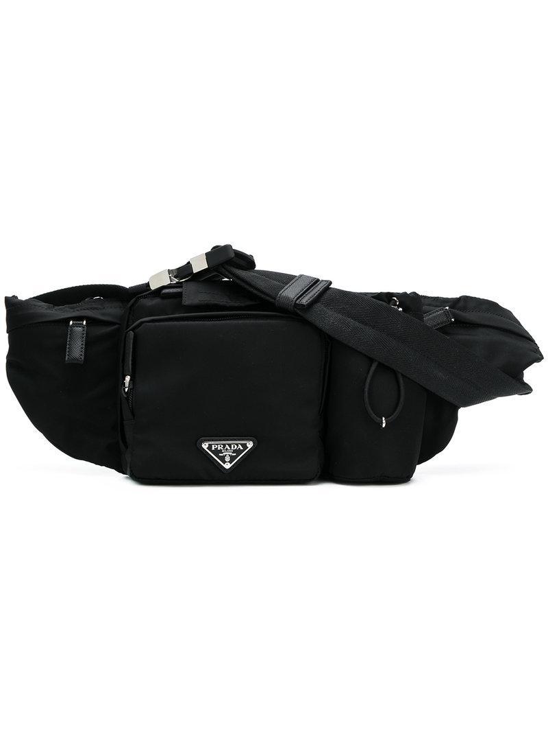 ... best price lyst prada multi pockets belt bag in black for men c2e53  0cecf ... 0419dc18617bc