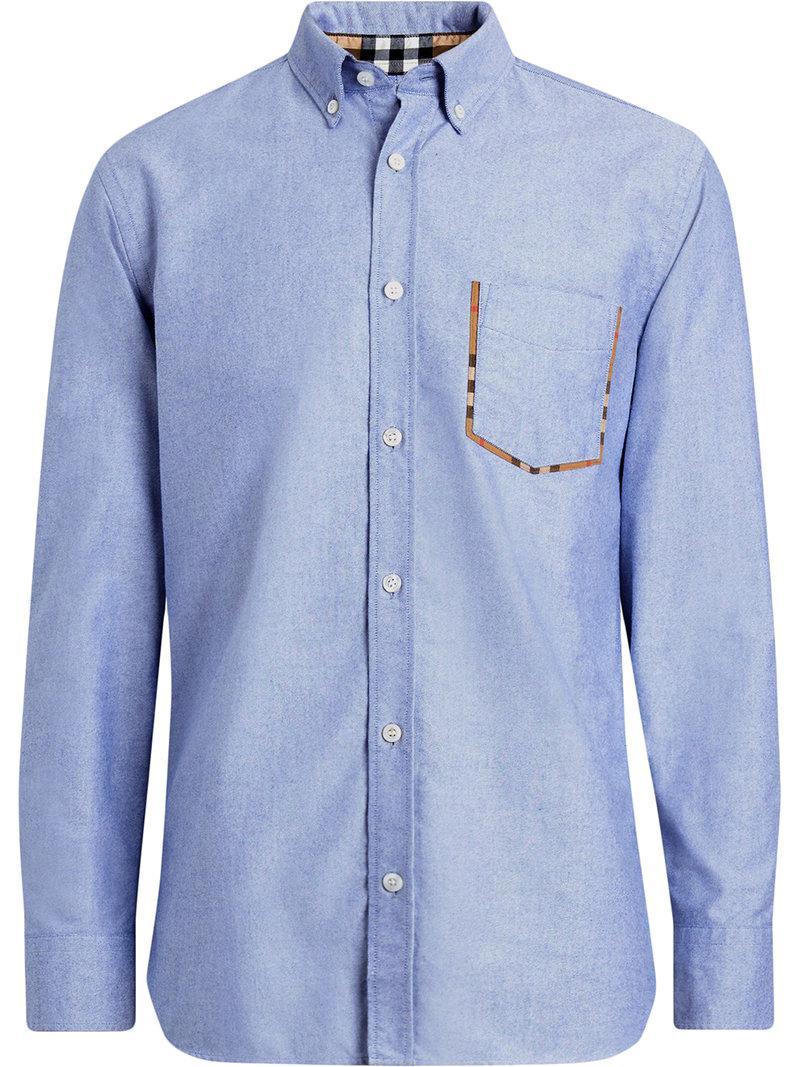 Lyst - Chemise à poche à bordures imprimées Burberry pour homme en ... 2ceaa838253