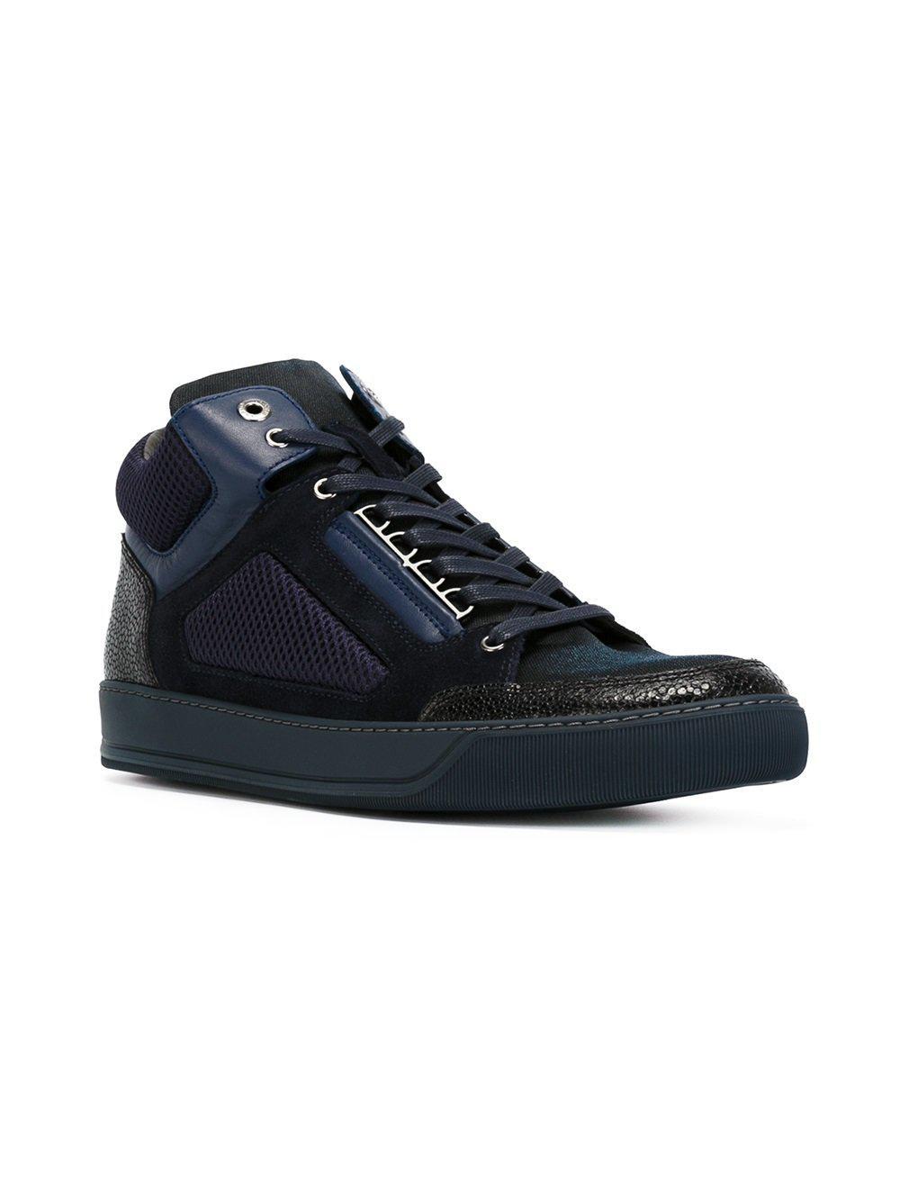 Texturés Chaussures De Sport Salut-top - Bleu Lanvin DogJWp