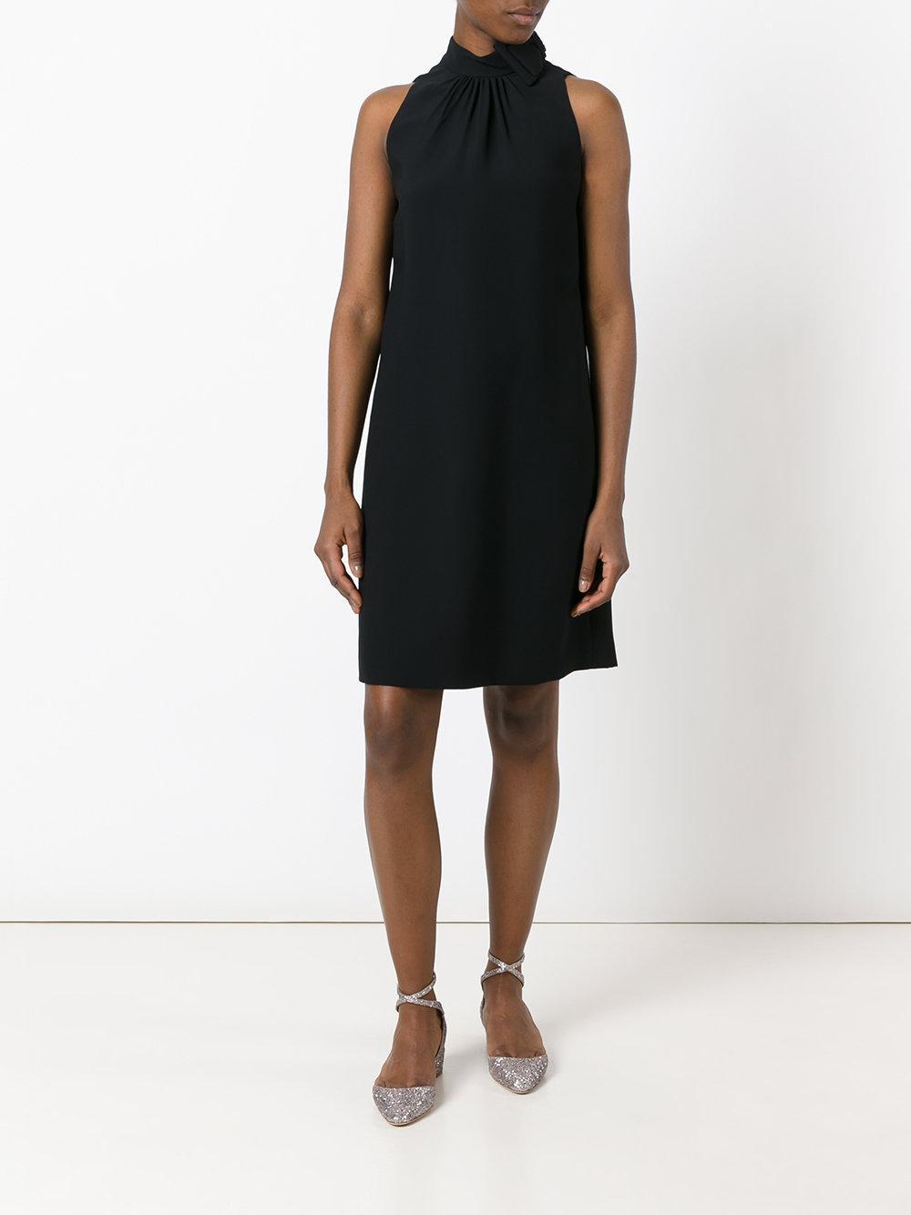 Prada Bow Neck Dress Women Silk Cupro Viscose 42